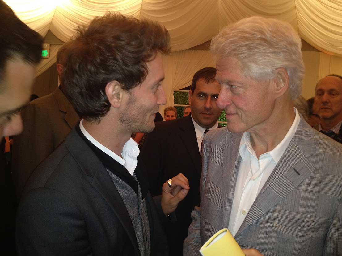 Lior Suchard President Bill Clinton